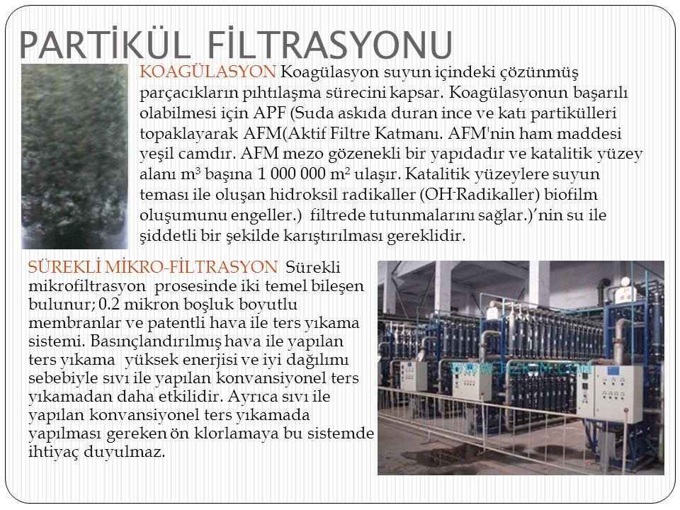 PARTİKÜL FİLTRASYONU