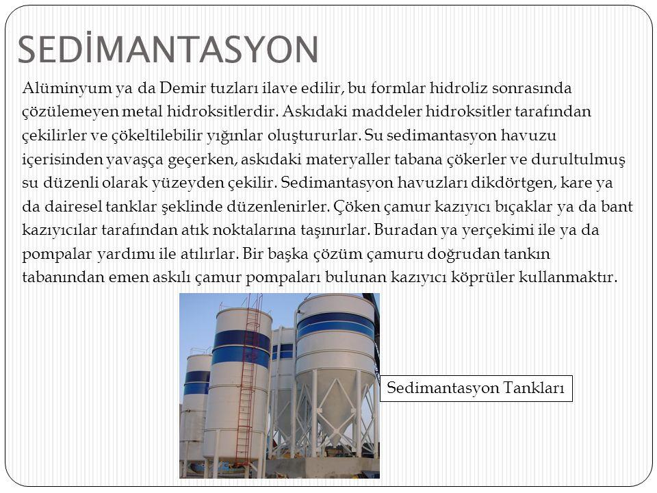Sedimantasyon Tankları