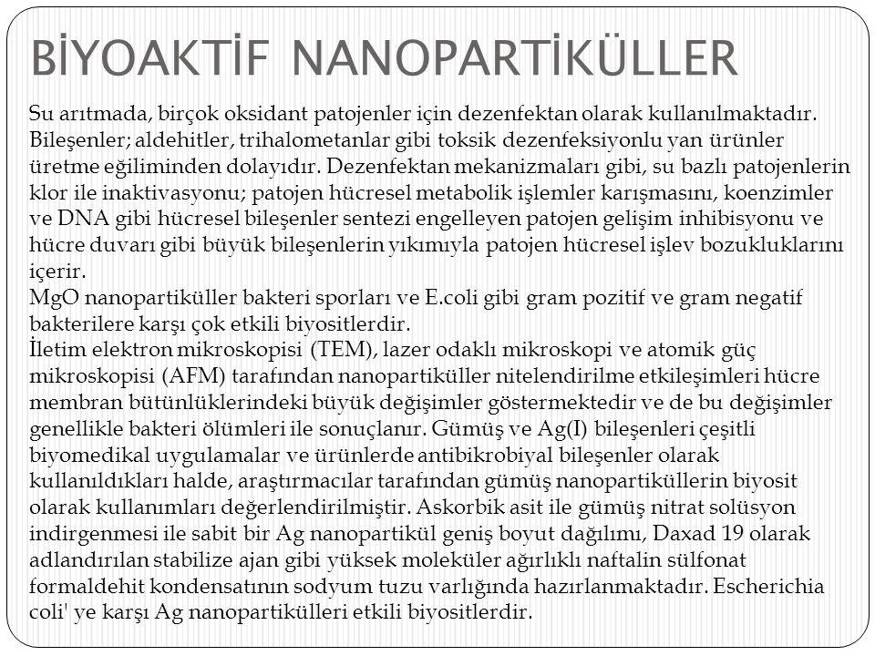 BİYOAKTİF NANOPARTİKÜLLER