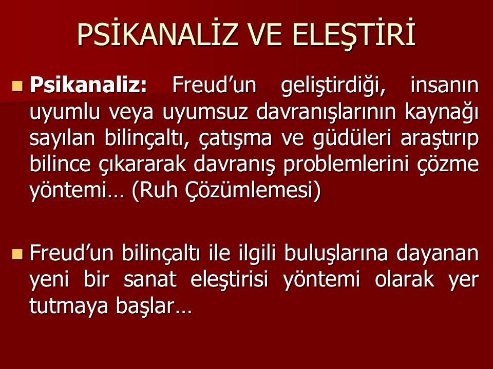 PSİKANALİZ VE ELEŞTİRİ