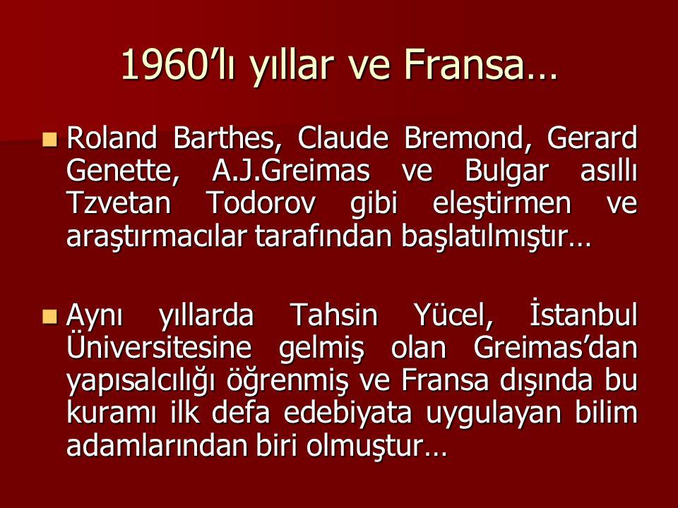 1960'lı yıllar ve Fransa…