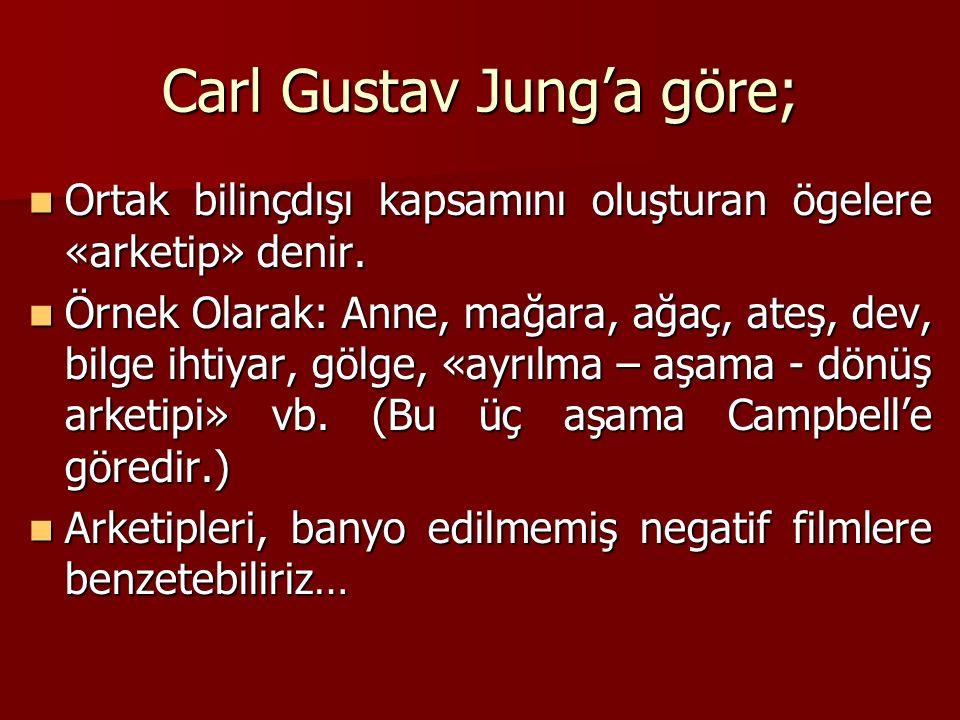 Carl Gustav Jung'a göre;
