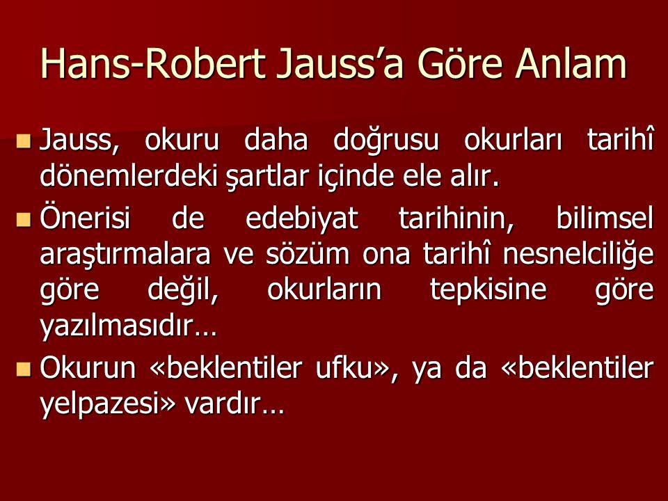 Hans-Robert Jauss'a Göre Anlam