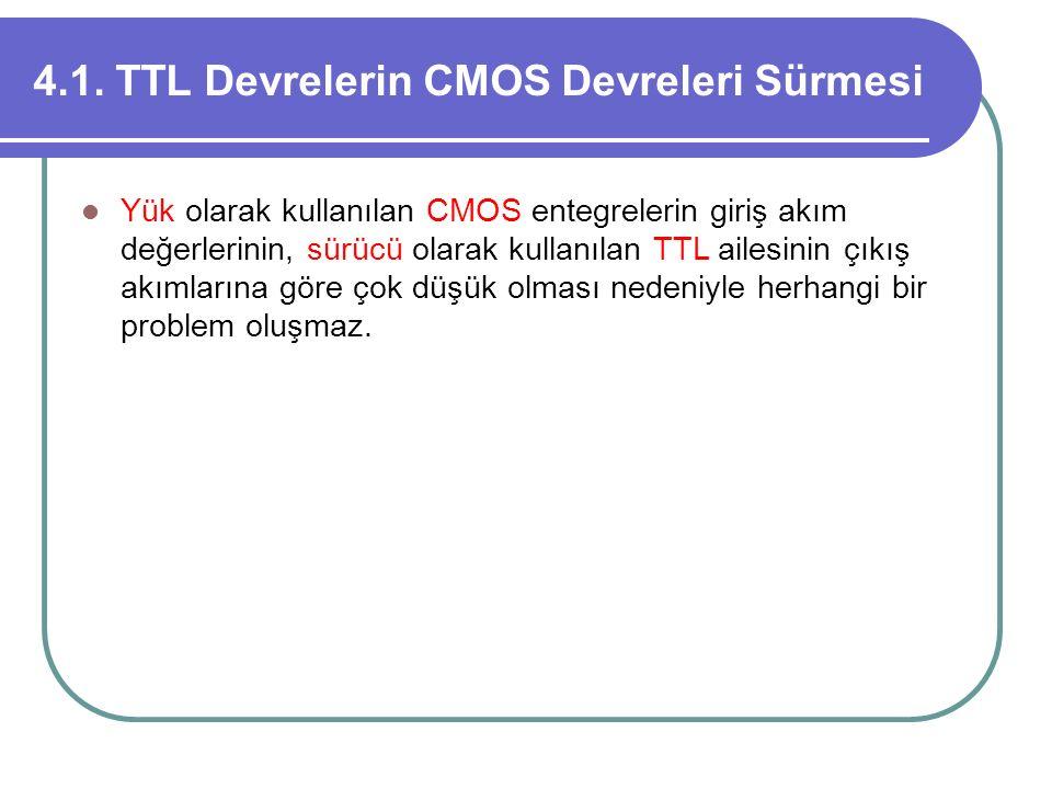 4.1. TTL Devrelerin CMOS Devreleri Sürmesi