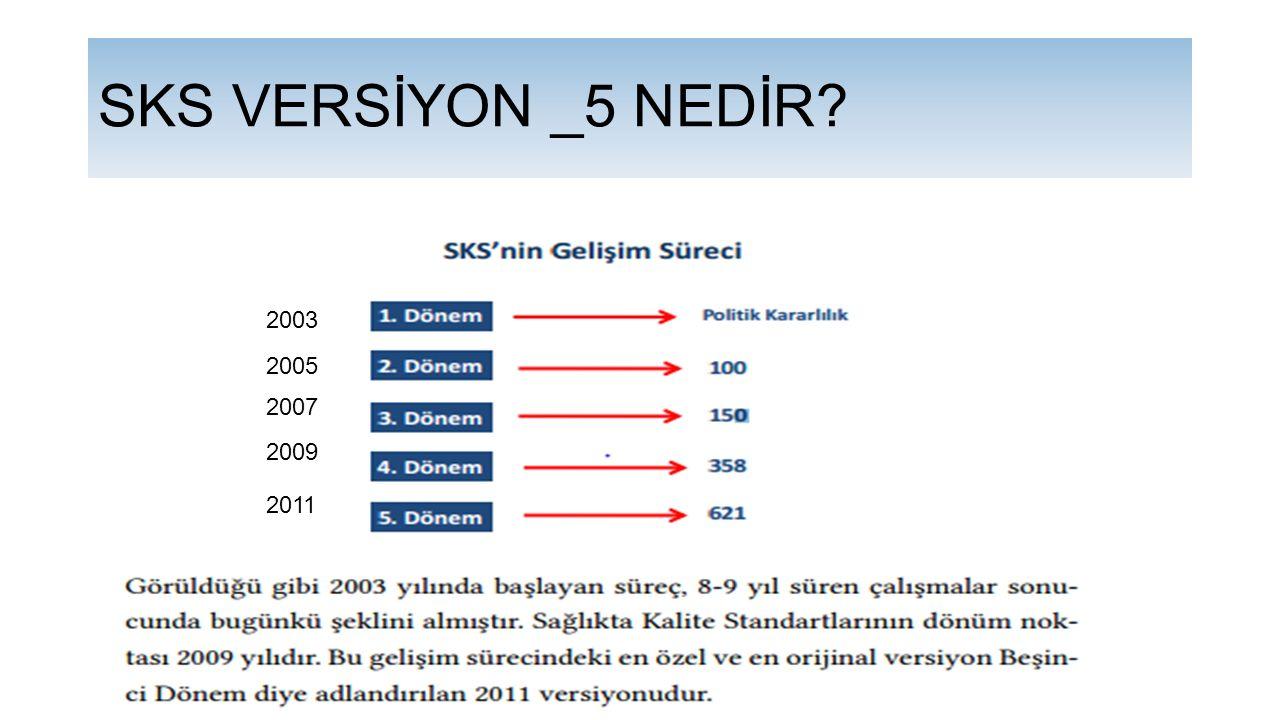 SKS VERSİYON _5 NEDİR 2003 2005 2007 2009 2011
