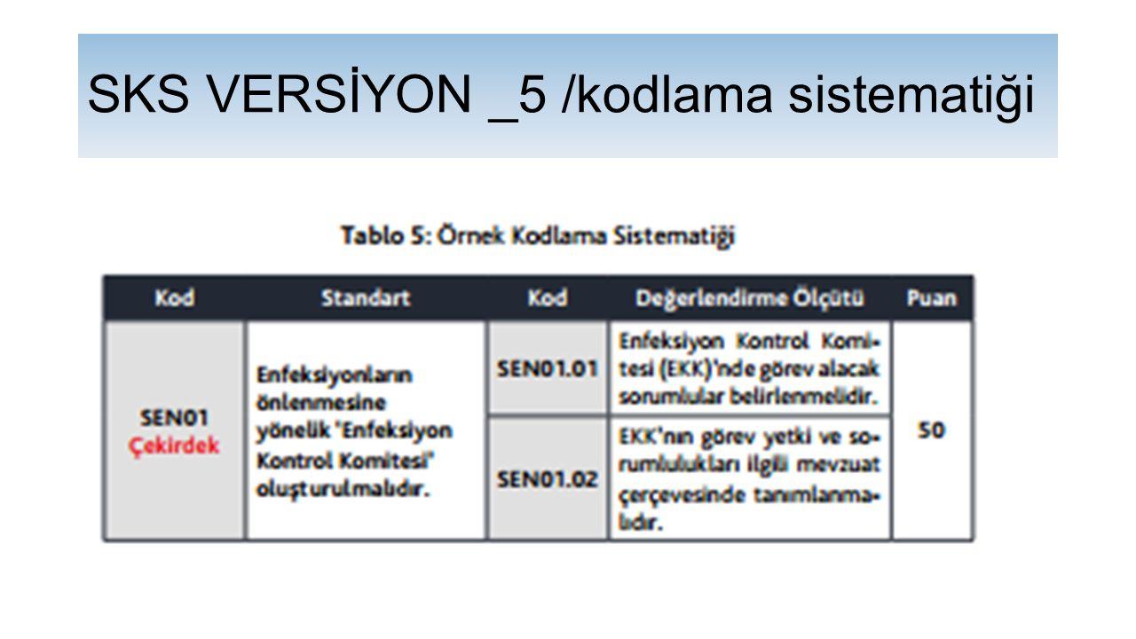 SKS VERSİYON _5 /kodlama sistematiği