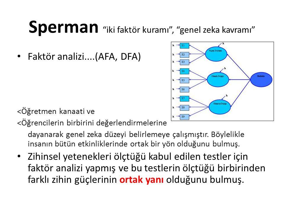 Sperman iki faktör kuramı , genel zeka kavramı