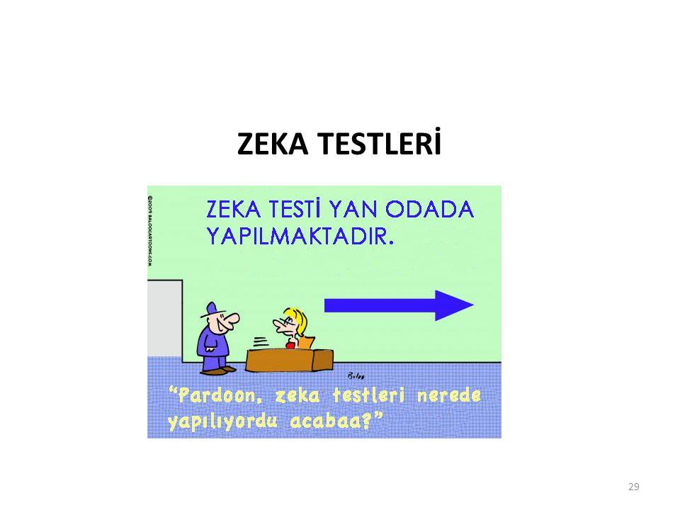 ZEKA TESTLERİ