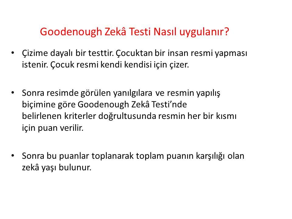 Goodenough Zekâ Testi Nasıl uygulanır