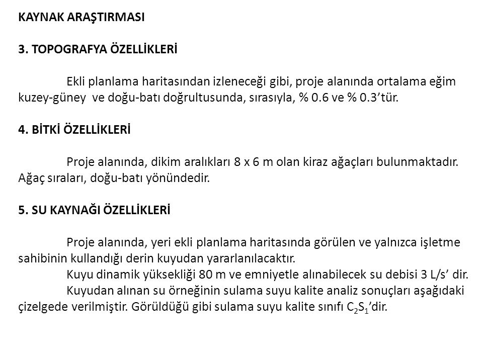KAYNAK ARAŞTIRMASI 3. TOPOGRAFYA ÖZELLİKLERİ.