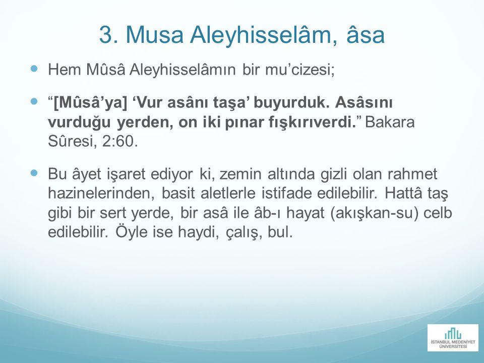 3. Musa Aleyhisselâm, âsa Hem Mûsâ Aleyhisselâmın bir mu'cizesi;