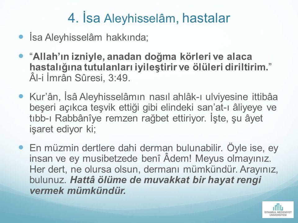 4. İsa Aleyhisselâm, hastalar