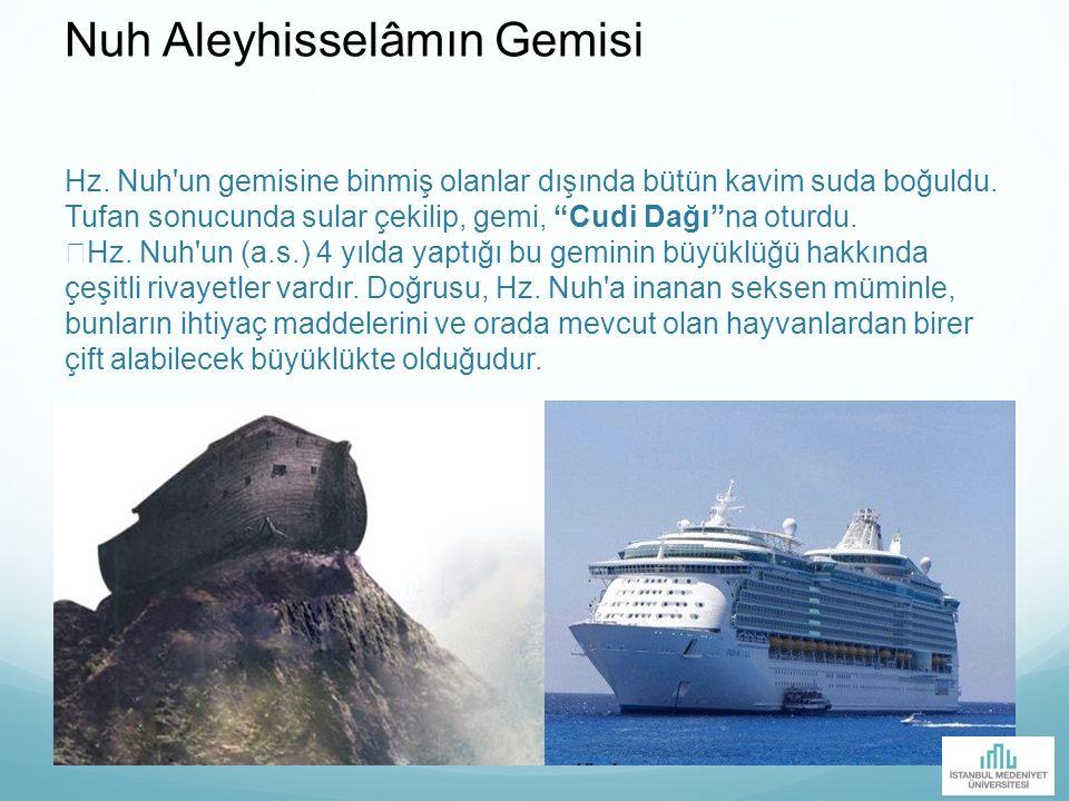 Nuh Aleyhisselâmın Gemisi