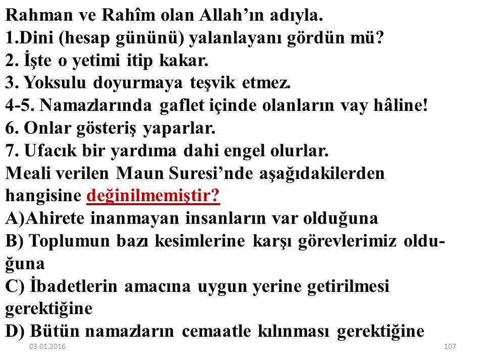 Rahman ve Rahîm olan Allah'ın adıyla.
