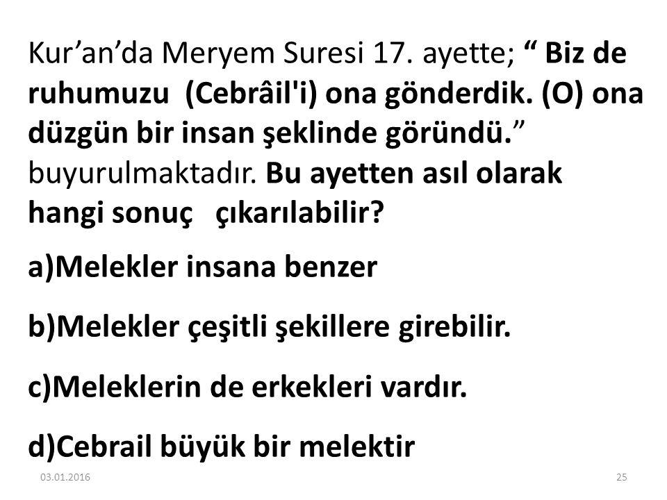 Kur'an'da Meryem Suresi 17. ayette; Biz de