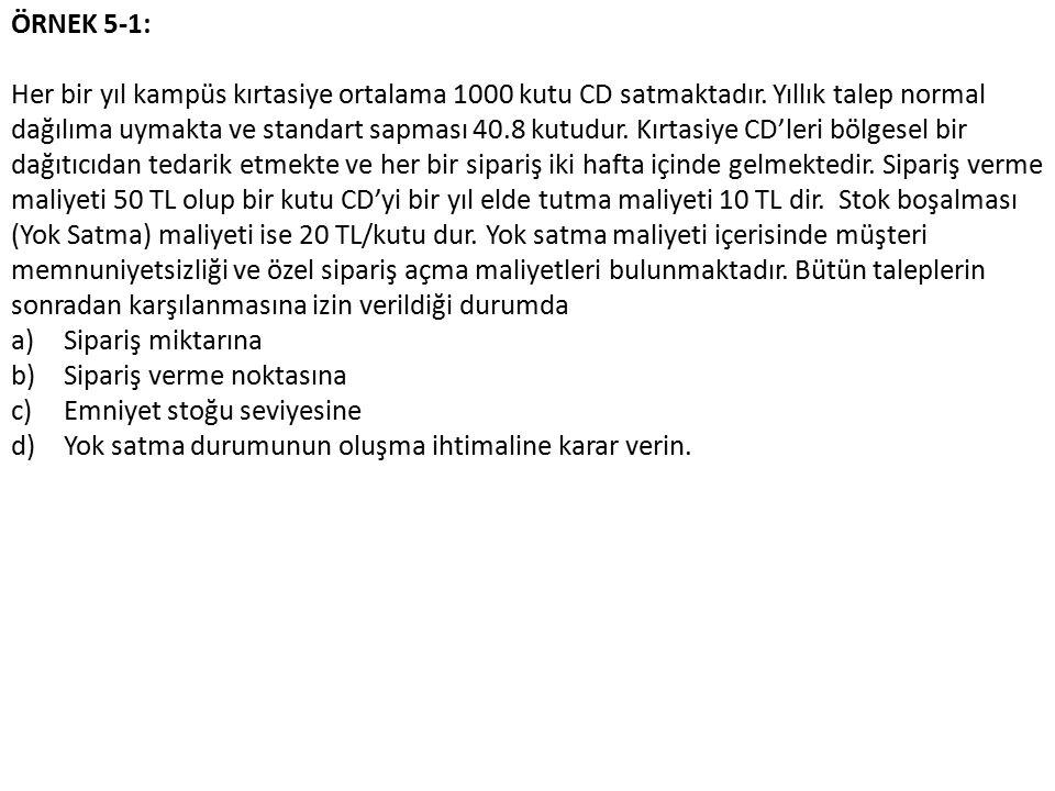 ÖRNEK 5-1: