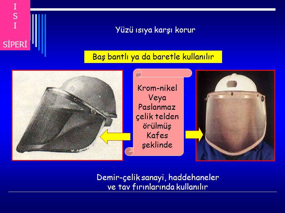 Baş bantlı ya da baretle kullanılır