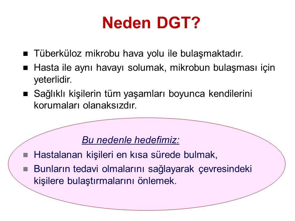Neden DGT Bu nedenle hedefimiz: