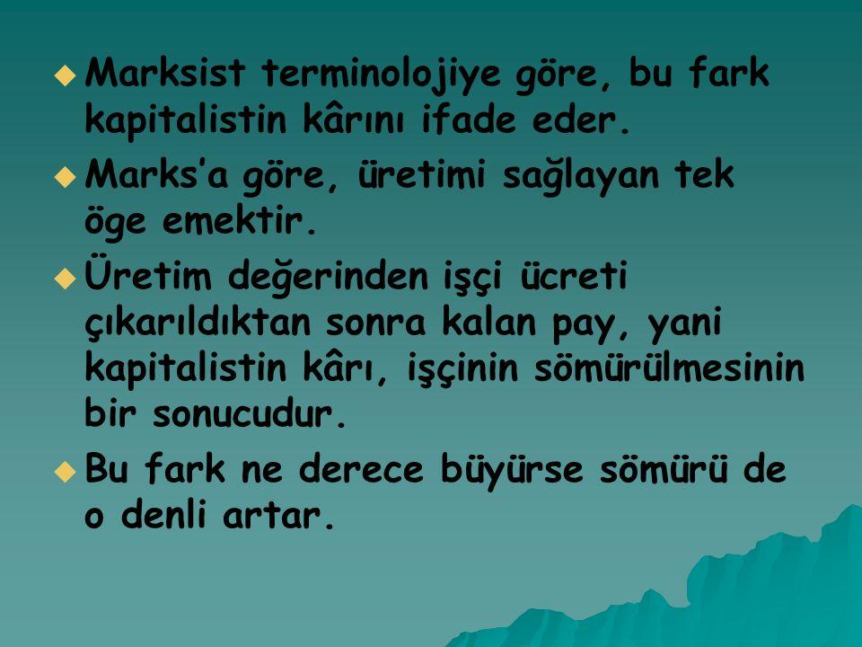 Marksist terminolojiye göre, bu fark kapitalistin kârını ifade eder.
