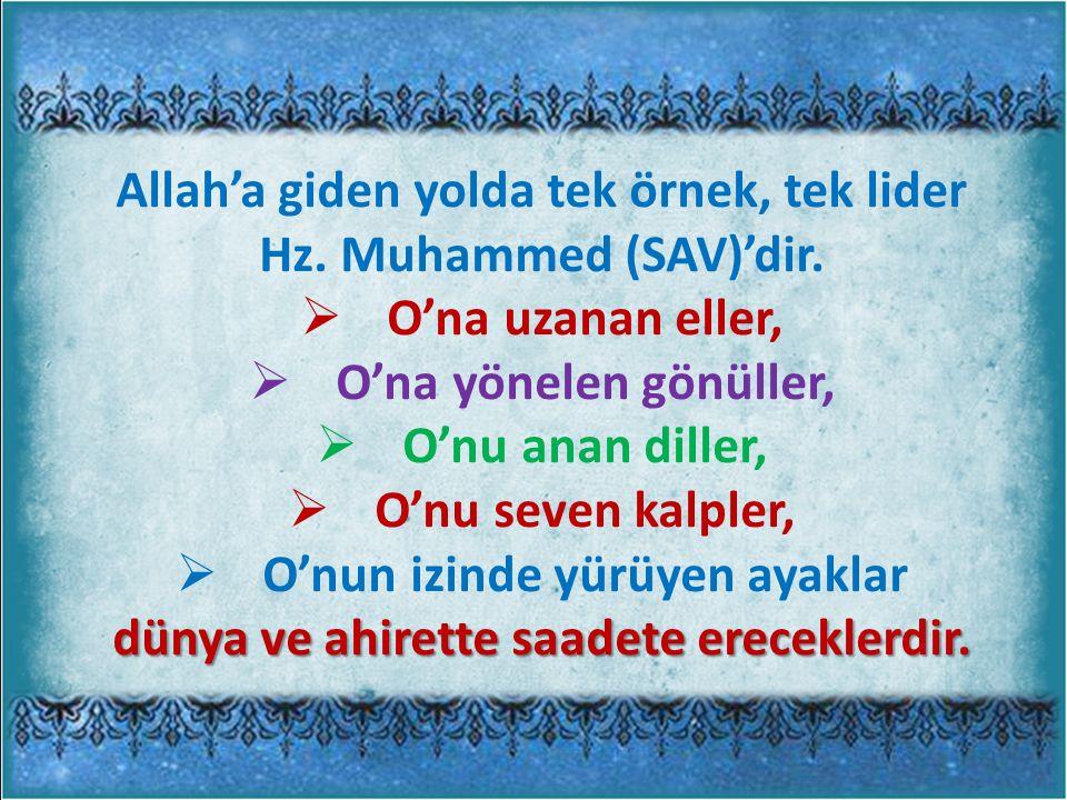 Allah'a giden yolda tek örnek, tek lider Hz. Muhammed (SAV)'dir.