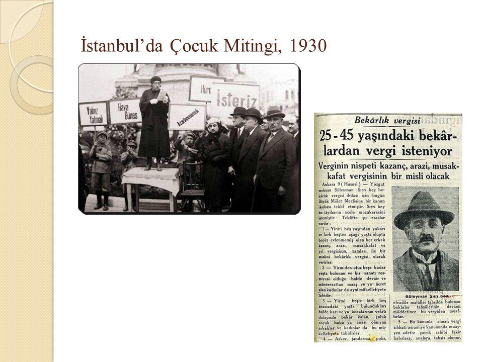 İstanbul'da Çocuk Mitingi, 1930