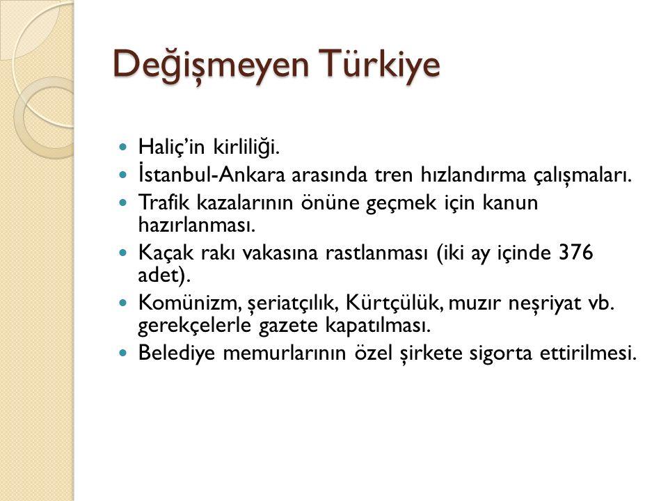 Değişmeyen Türkiye Haliç'in kirliliği.