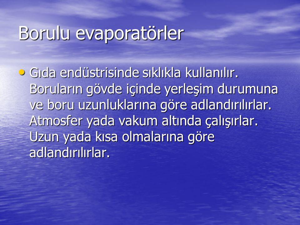 Borulu evaporatörler