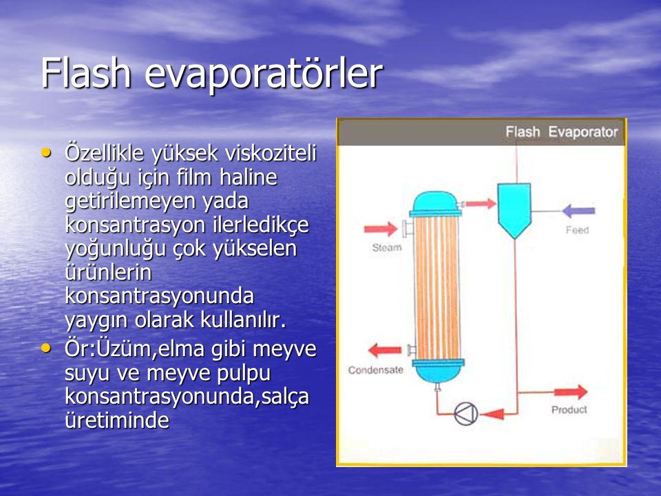 Flash evaporatörler