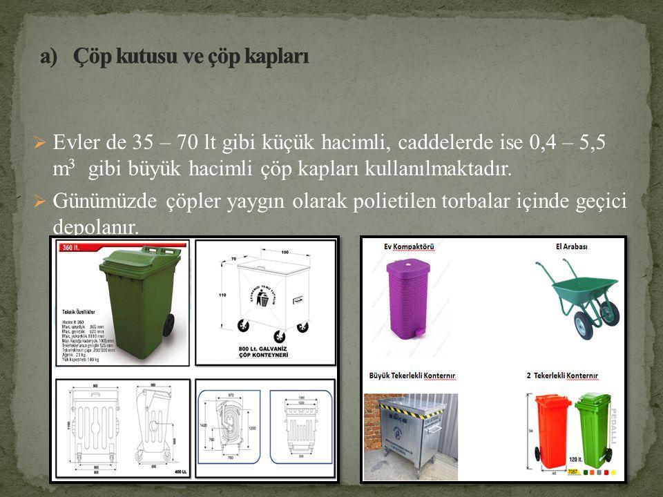 Çöp kutusu ve çöp kapları