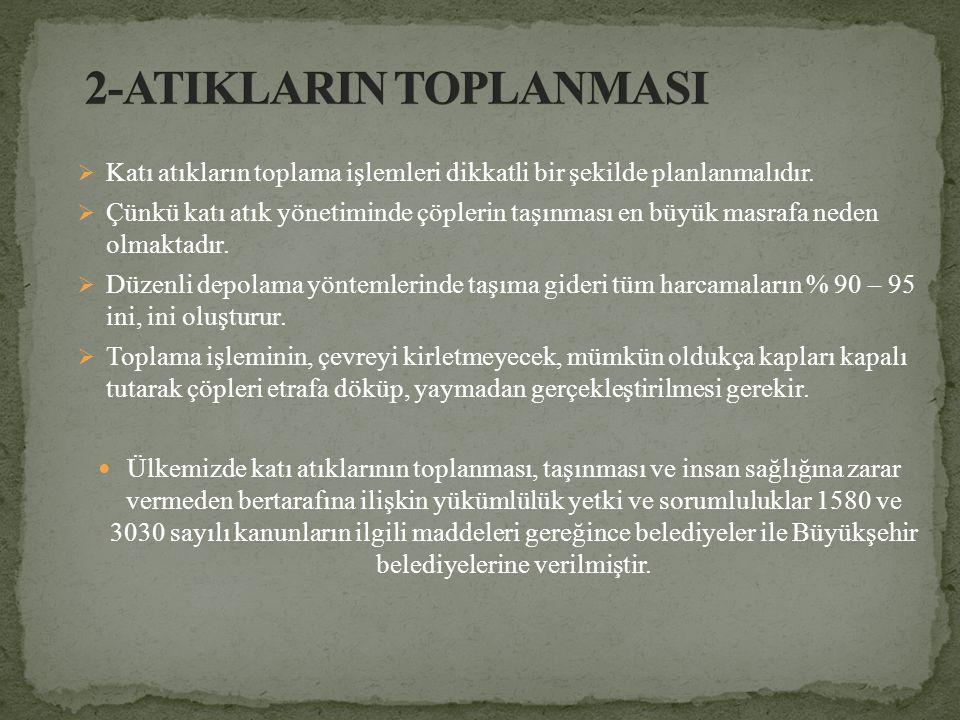 2-ATIKLARIN TOPLANMASI