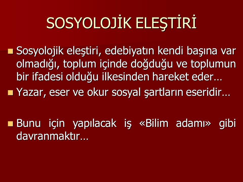 SOSYOLOJİK ELEŞTİRİ