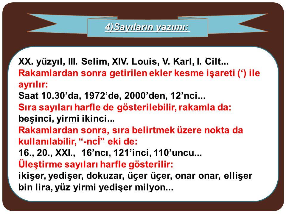 XX. yüzyıl, III. Selim, XIV. Louis, V. Karl, I. Cilt...