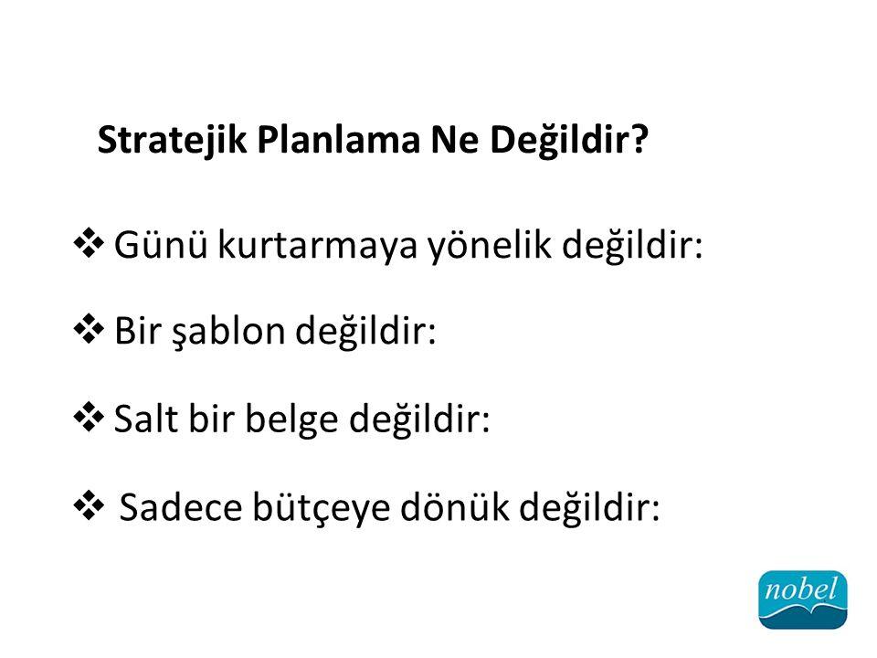 Stratejik Planlama Ne Değildir