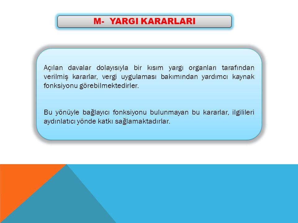 M- YARGI KARARLARI