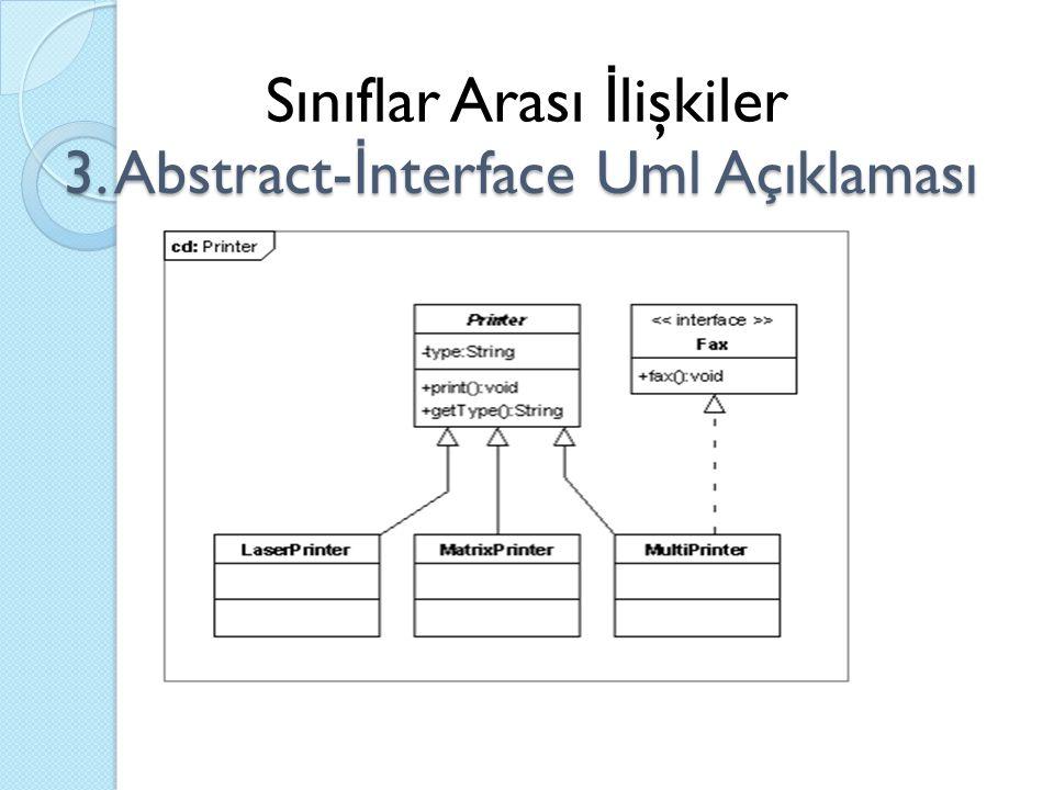 3. Abstract-İnterface Uml Açıklaması