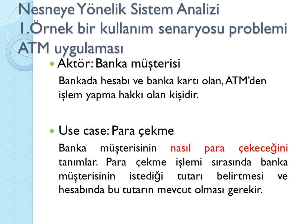 Nesneye Yönelik Sistem Analizi 1