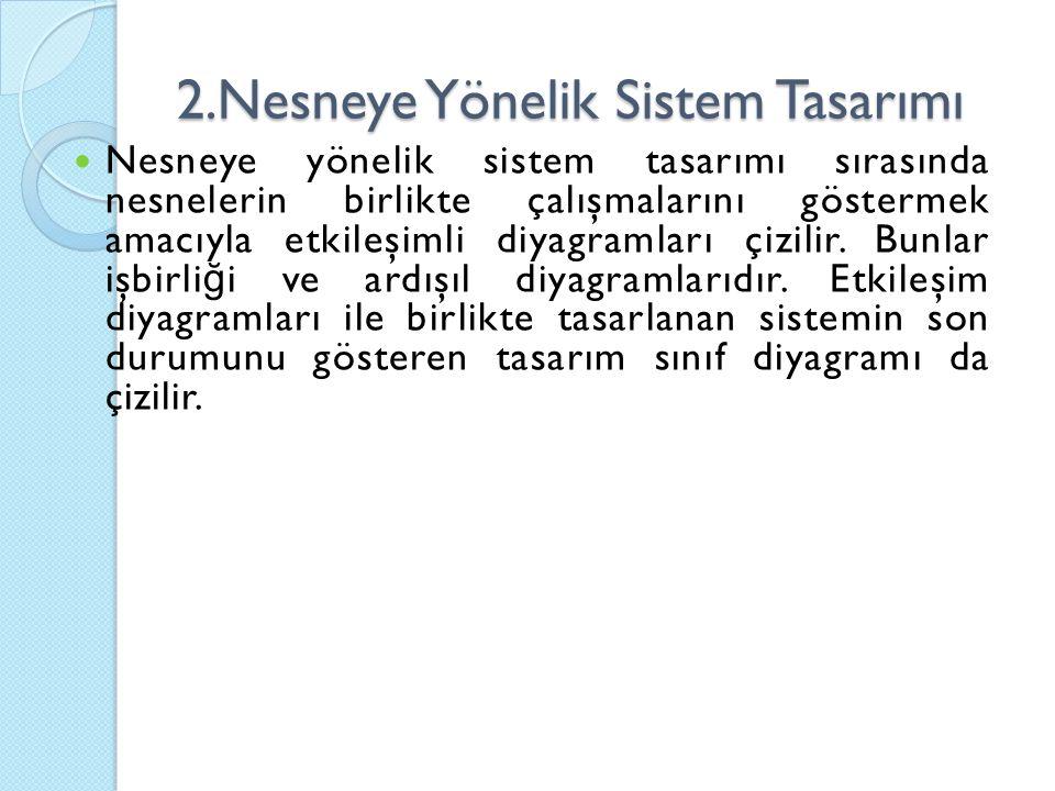 2.Nesneye Yönelik Sistem Tasarımı