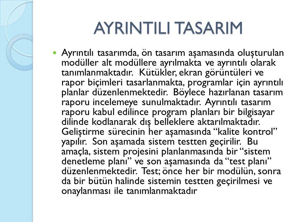 AYRINTILI TASARIM