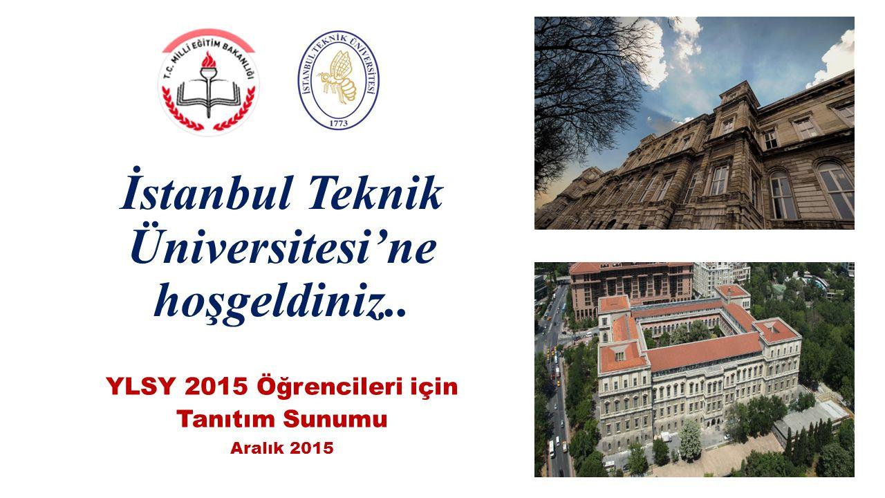 İstanbul Teknik Üniversitesi'ne hoşgeldiniz..