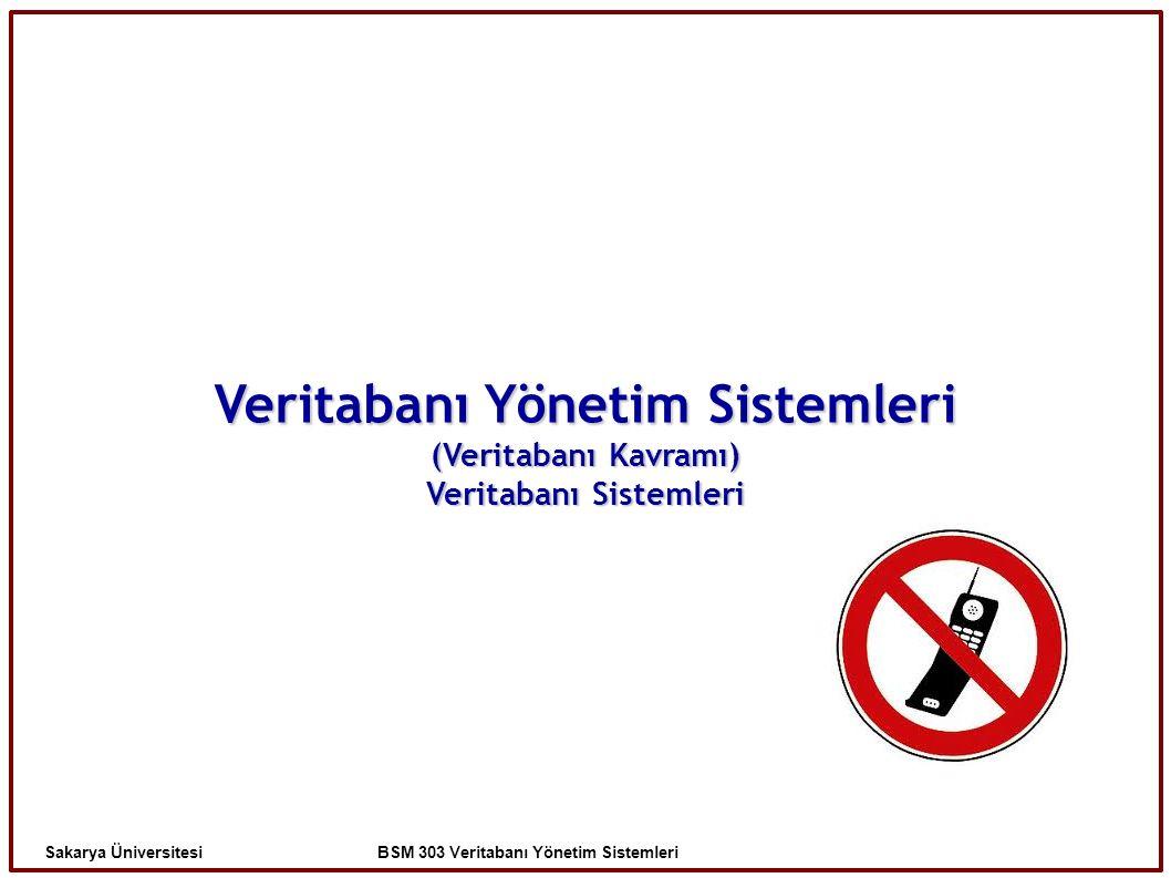 Veritabanı Yönetim Sistemleri