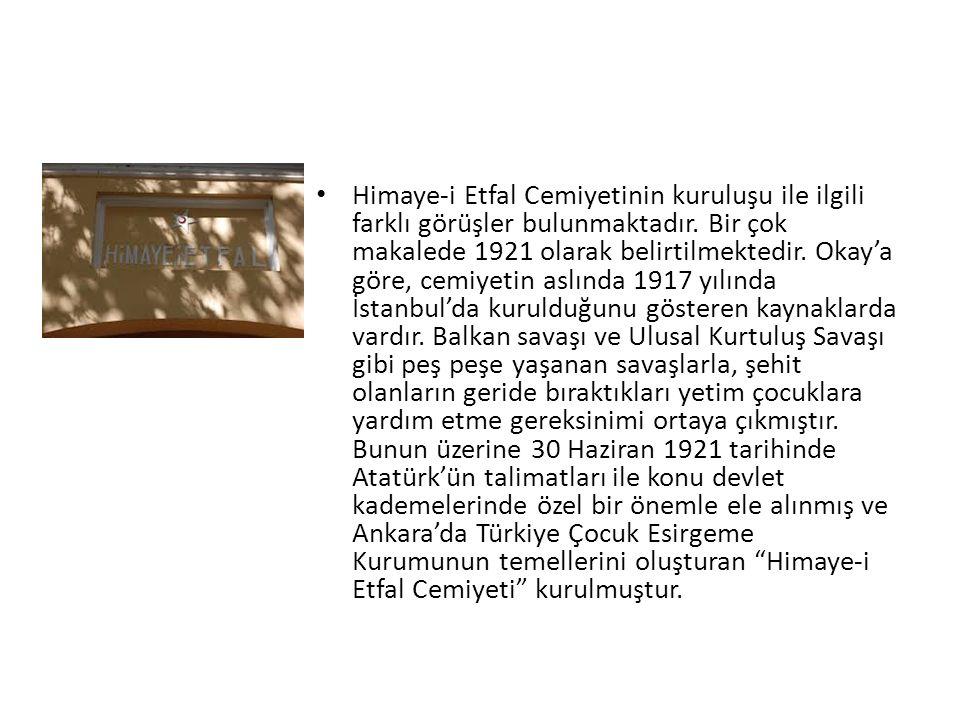 Himaye-i Etfal Cemiyetinin kuruluşu ile ilgili farklı görüşler bulunmaktadır.
