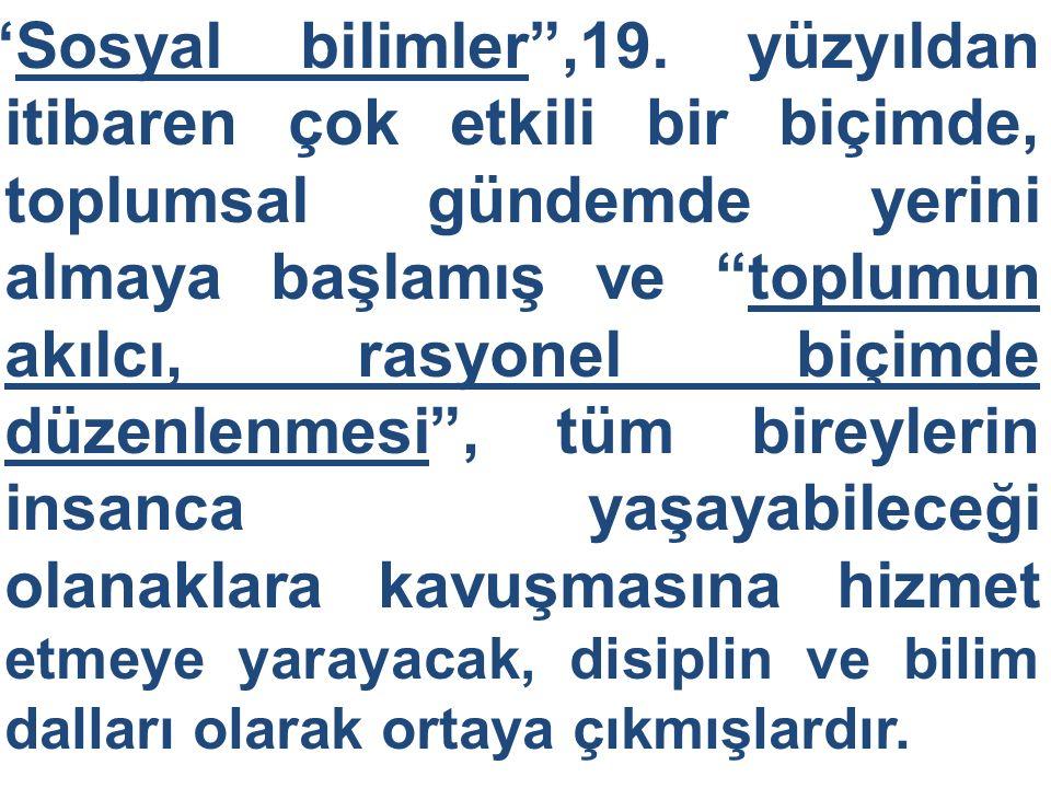 Sosyal bilimler ,19.