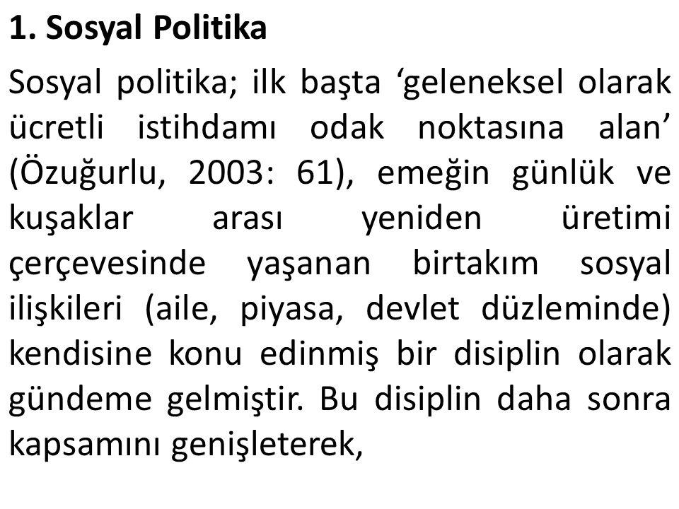 1. Sosyal Politika