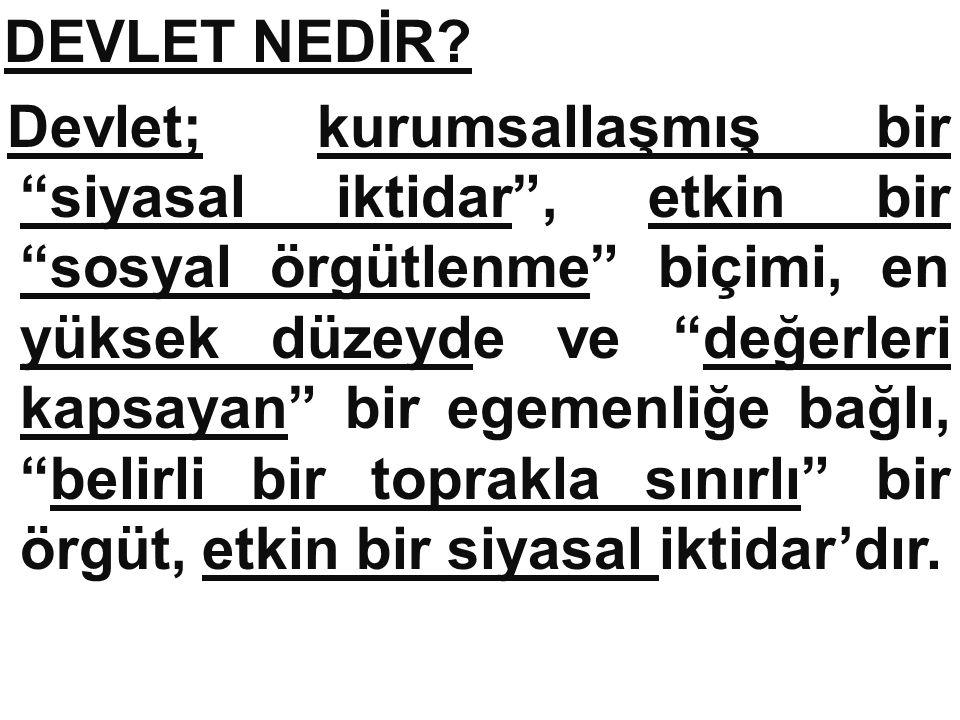 DEVLET NEDİR