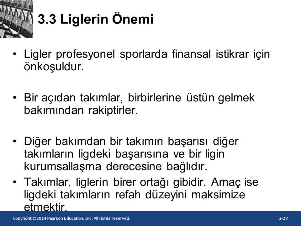 3.3 Liglerin Önemi Ligler profesyonel sporlarda finansal istikrar için önkoşuldur.