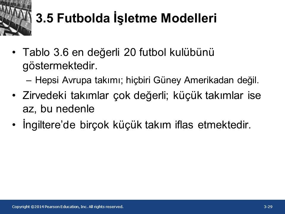 3.5 Futbolda İşletme Modelleri