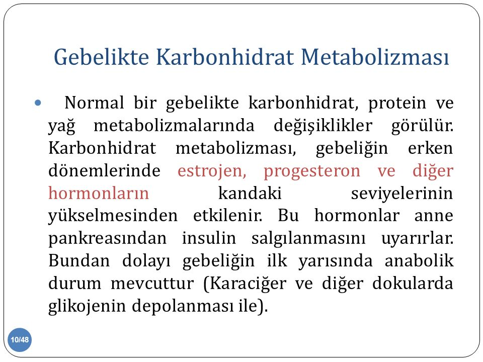 Gebelikte Karbonhidrat Metabolizması
