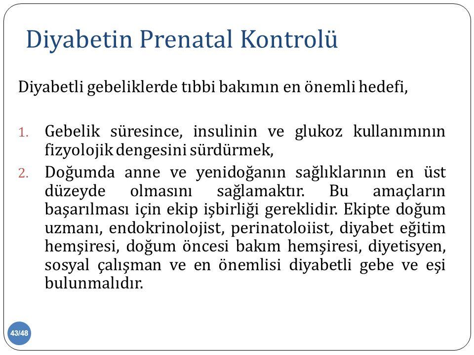 Diyabetin Prenatal Kontrolü