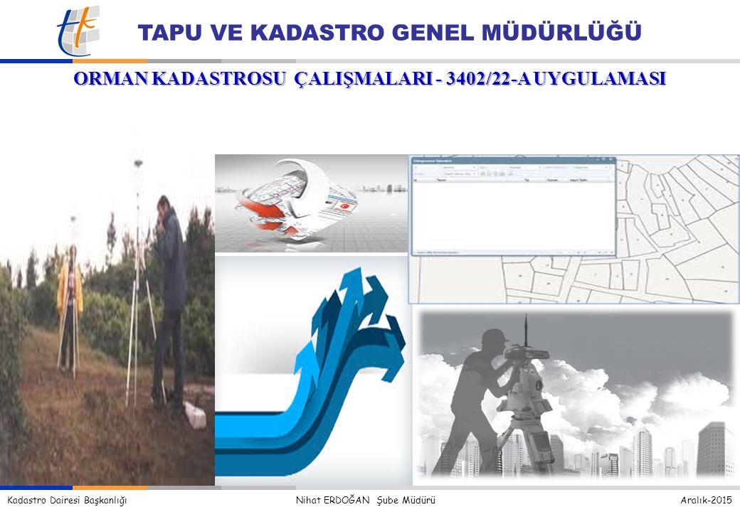 ORMAN KADASTROSU ÇALIŞMALARI - 3402/22-A UYGULAMASI
