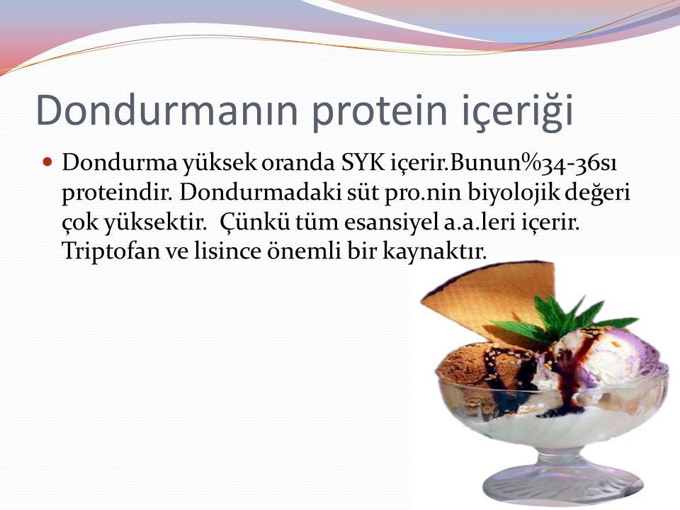 Dondurmanın protein içeriği